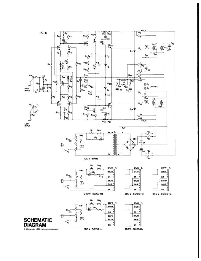 哈福Hafler DH-200功放电路图