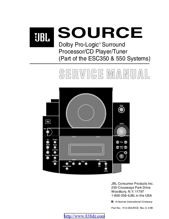 JBL esc-350 组合音响功放电路图