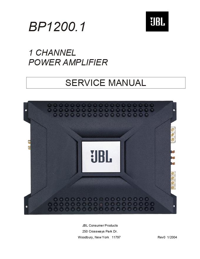 JBL BP1200.1 单声道功放维修手册