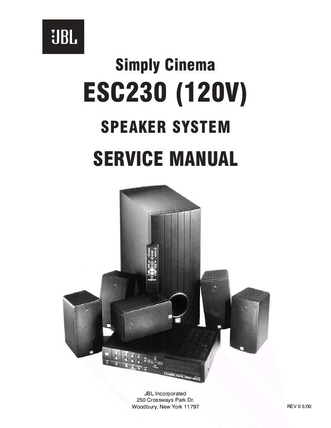 JBL ESC230功率放大器维修手册 120V供电