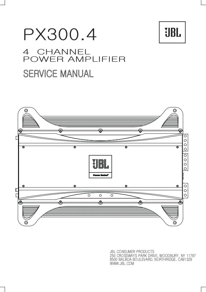 JBL PX300.4 四声道功率放大器功放维修手册