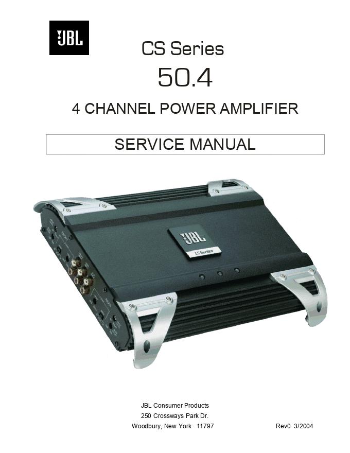 JBL 50.4 4通道功率放大器功放维修手册