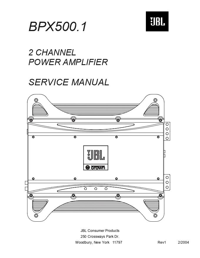 JBL BPX500.1 功放维修手册