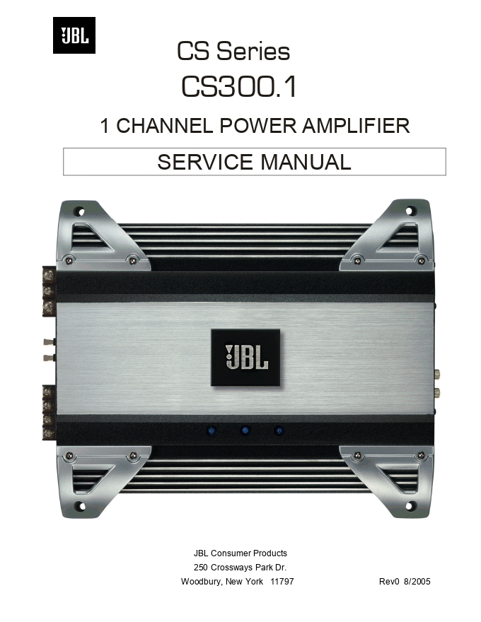 JBL CS300.1 1通道功率放大器维修手册