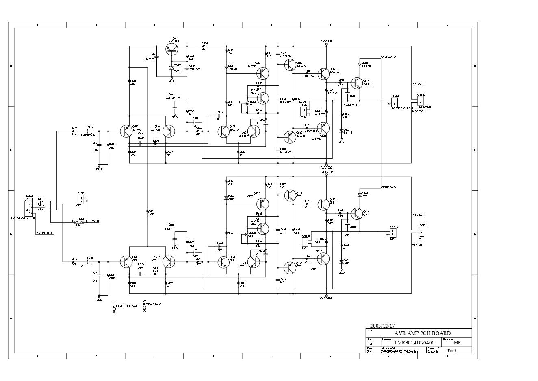 Jamo尊宝 AVR-690维修电路图