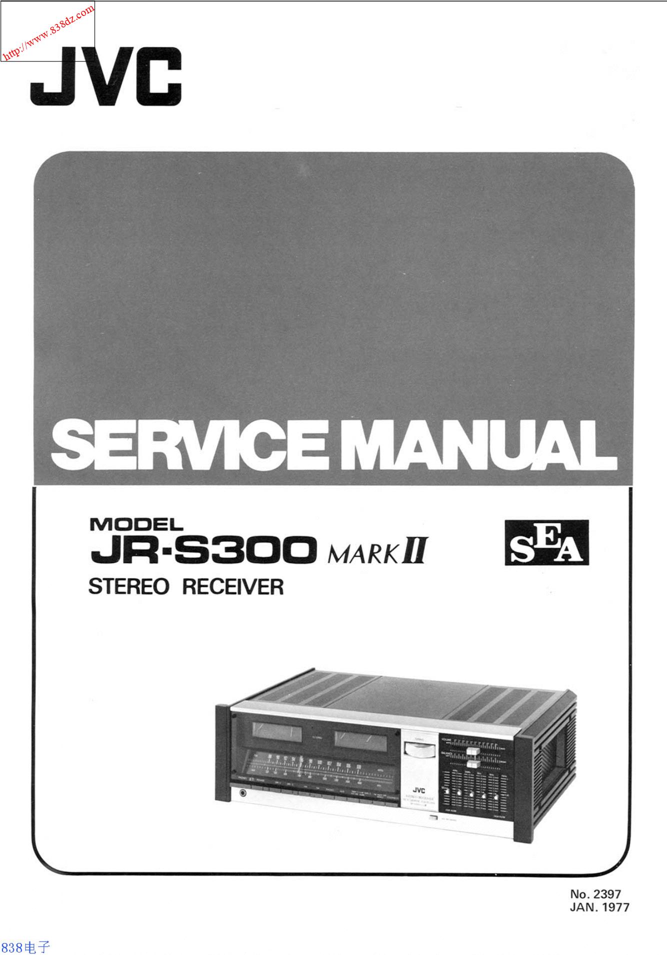 JVC JR-S300 MARKII收扩音机维修手册