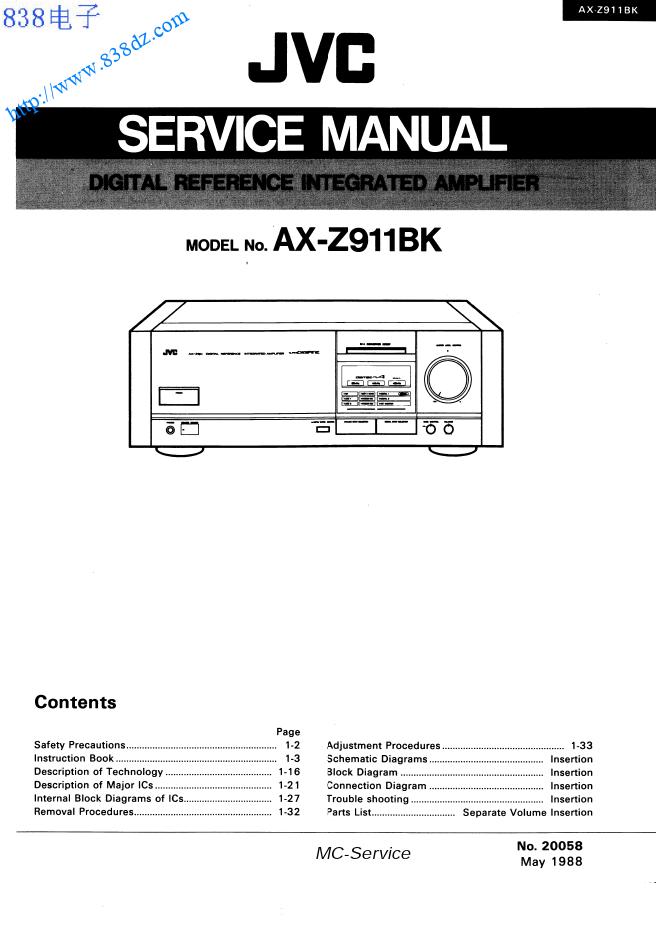 JVC AX-Z911BK功放维修手册