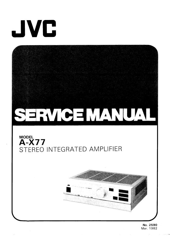 JVC A-X77 功放维修手册