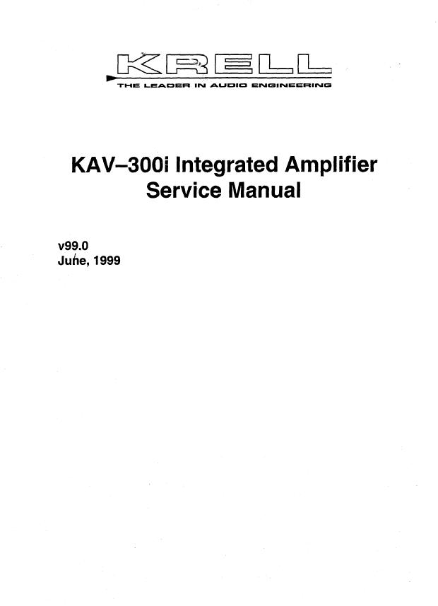 Krell奇力 KAV300i 功放维修电路图