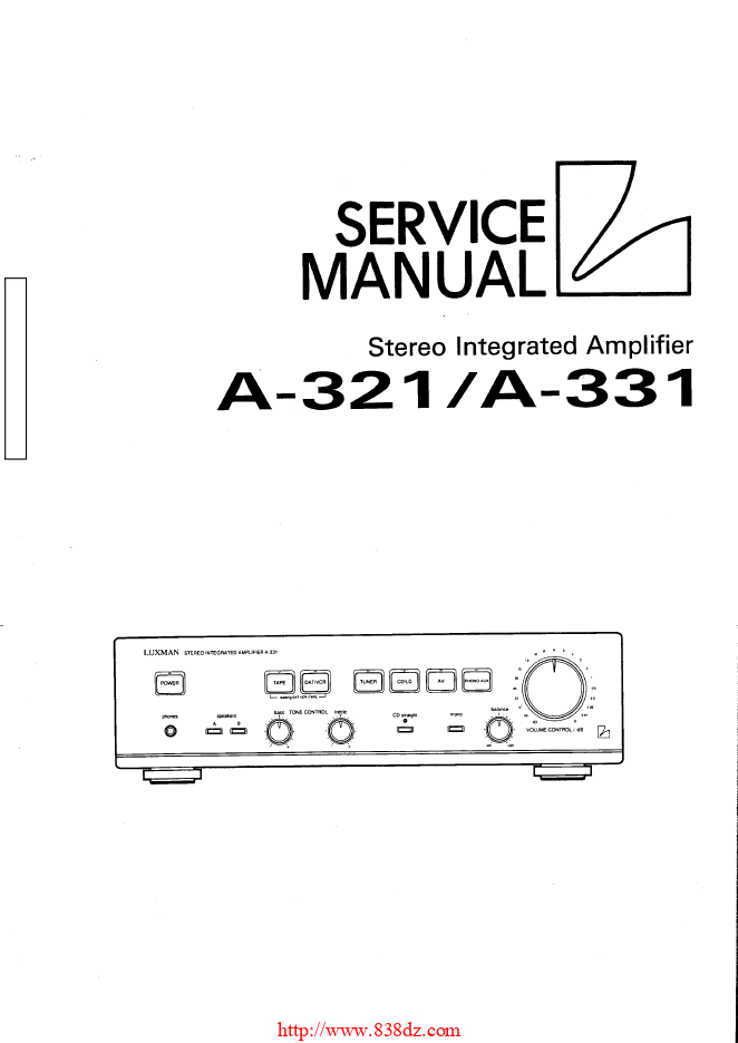 LUXMAN 力士 A-331功放维修手册