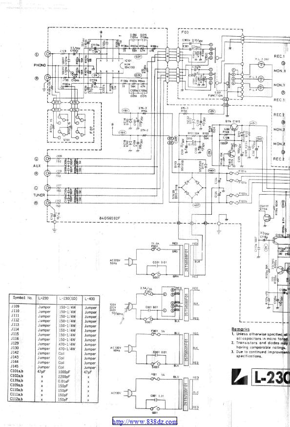 LUXMAN力士 L-400功放维修图纸