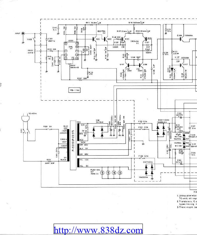 LUXMAN力士 B-12功放电路图