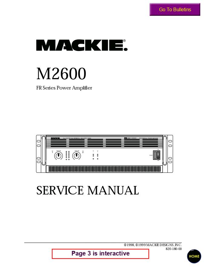 Mackie美奇 M2600 专业功放图纸