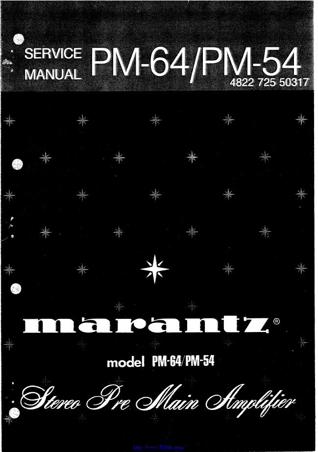 马兰士marantz PM64 功放维修电路图