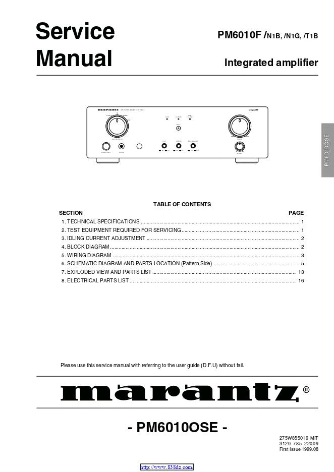 马兰士marantz  PM6010 功放电路图