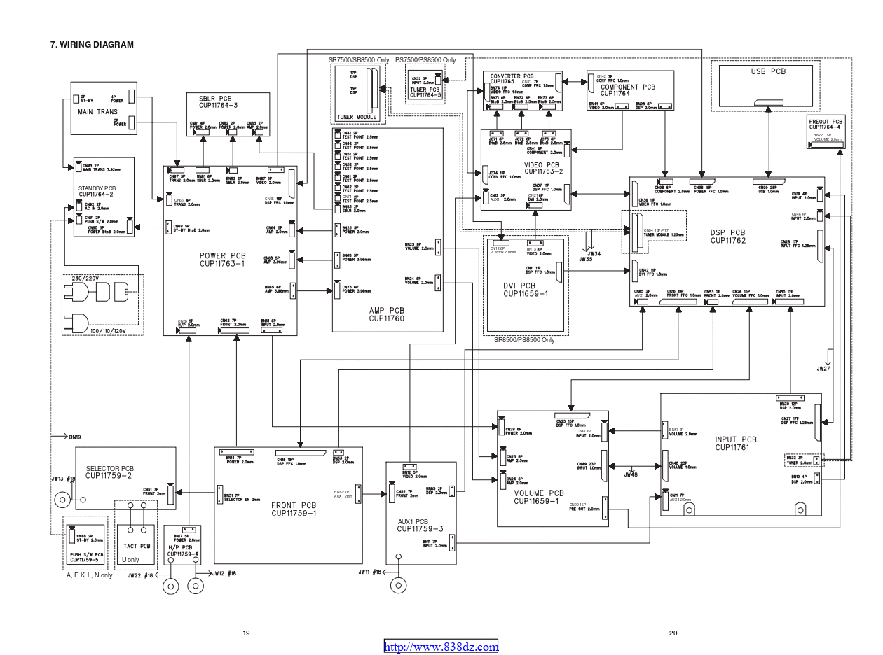 马兰士marantz SR8500 功放电路图