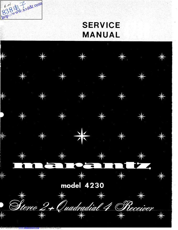 MARANTZ马兰士4230收扩音机维修手册
