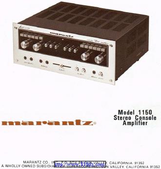 马兰士marantz 1150 功放维修电路图