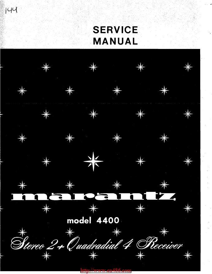 Marantz马兰士 4400功放维修图纸