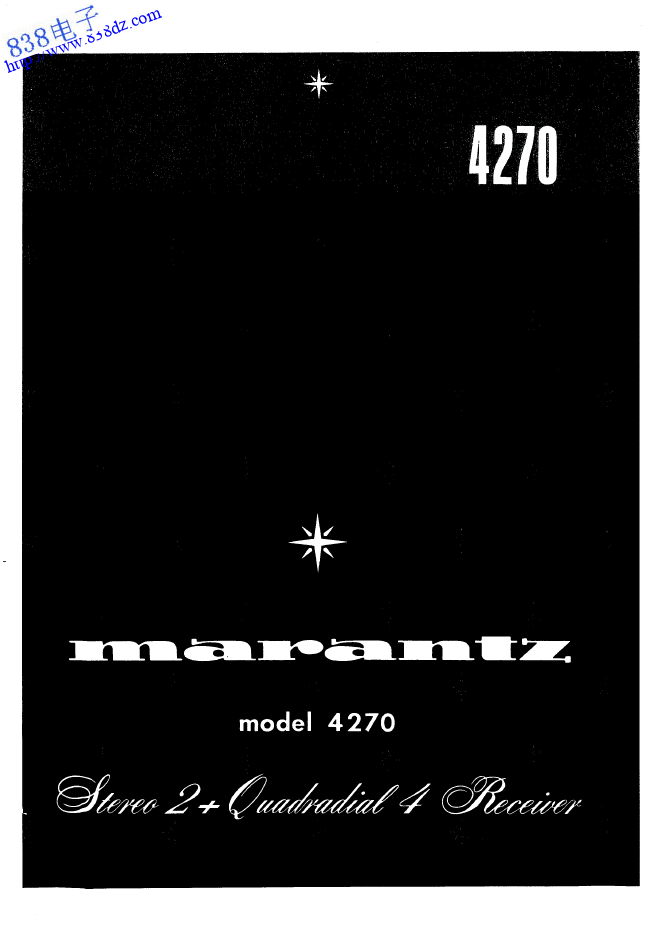 MARANTZ马兰士4270收扩音机维修手册