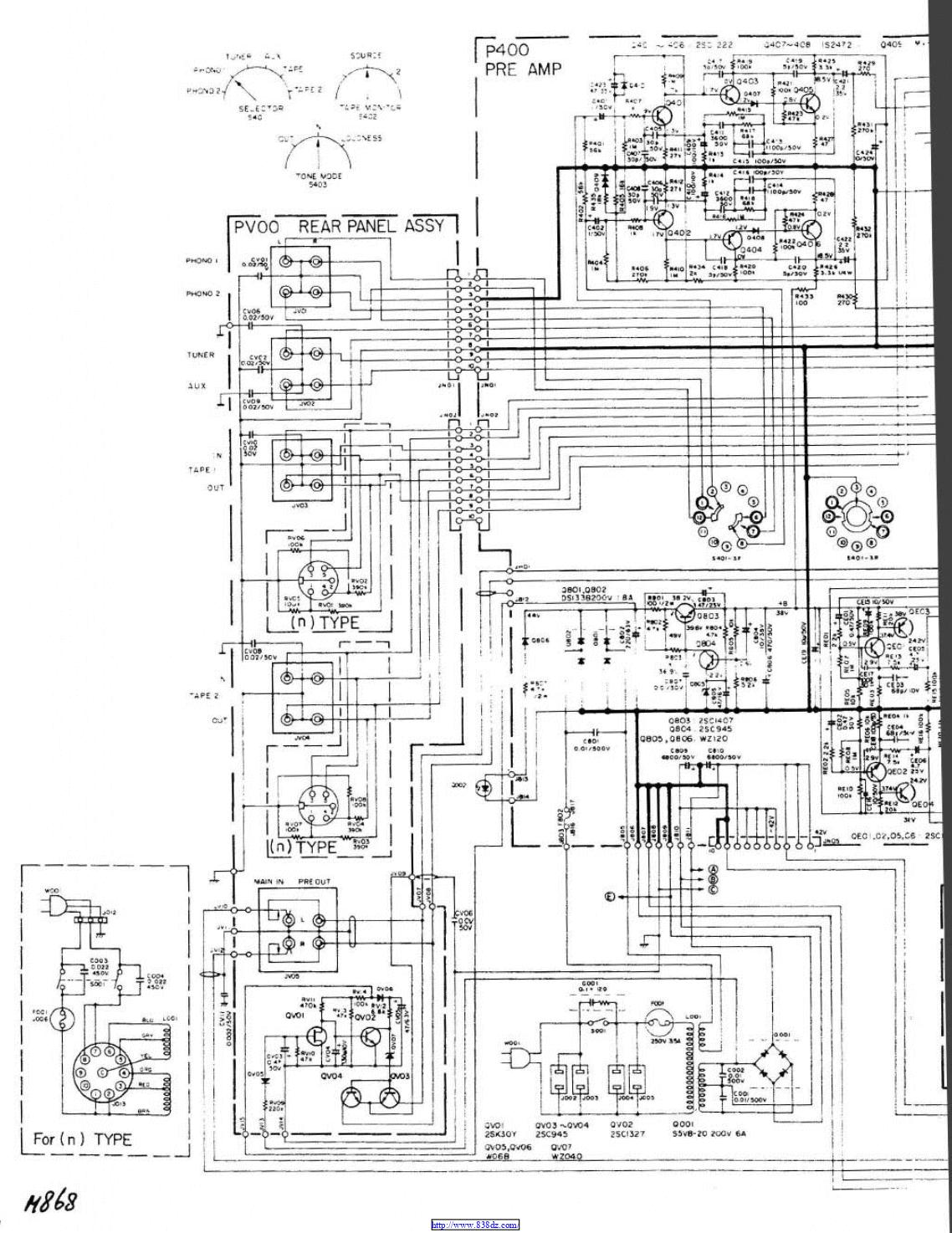 马兰士marantz 1090 纯功放维修电路图