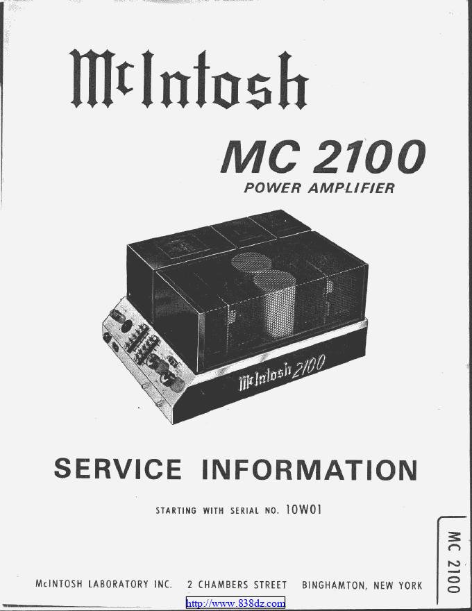 麦景图mcintosh MC2100功放电路图