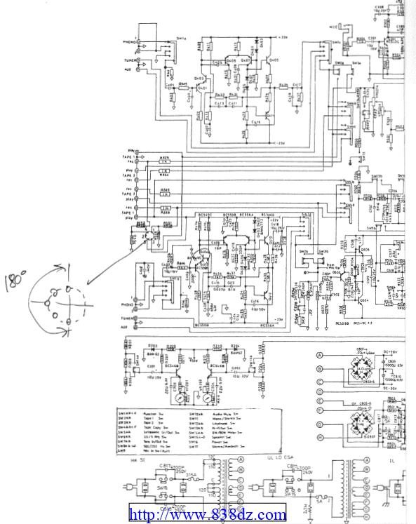 NAD 3080 功放维修电路图