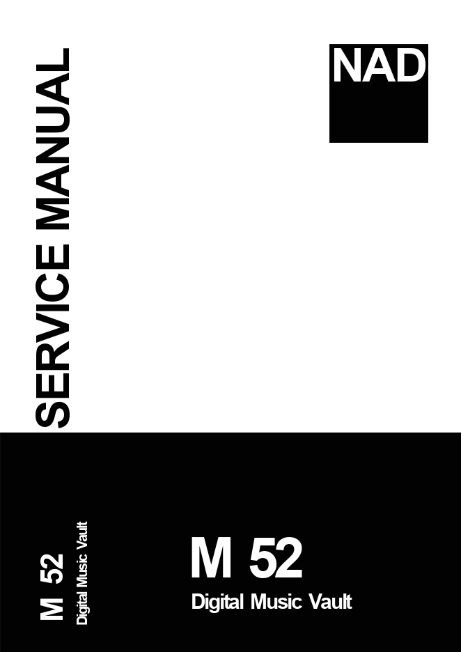 NAD M-52数字音乐播放器 电源部分电路图维修手册