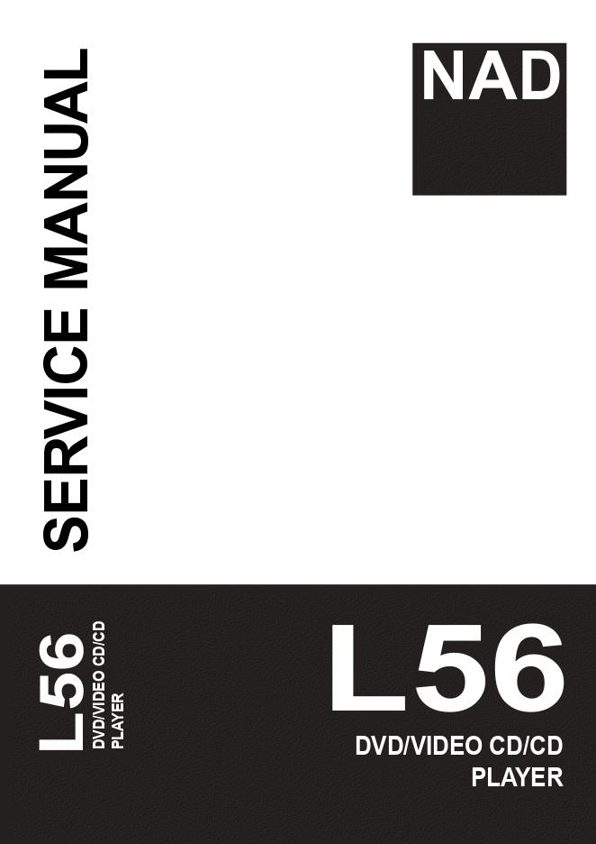 NAD L56视频DVD CD播放器维修手册