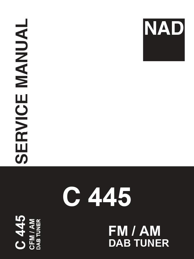 NAD C445 FM AM DAB调谐器收音头维修手册