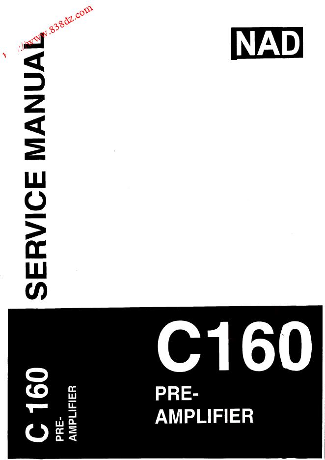 NAD  C160 功放前级维修手册