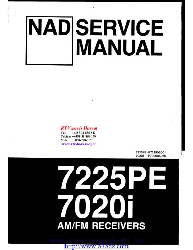 NAD 7020i 7225PE功放维修电路图