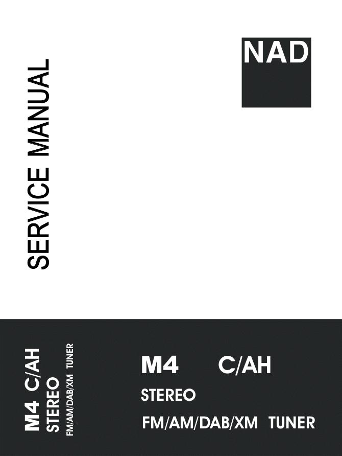 NAD M4 FM AM DAB XM调谐器收音头维修手册