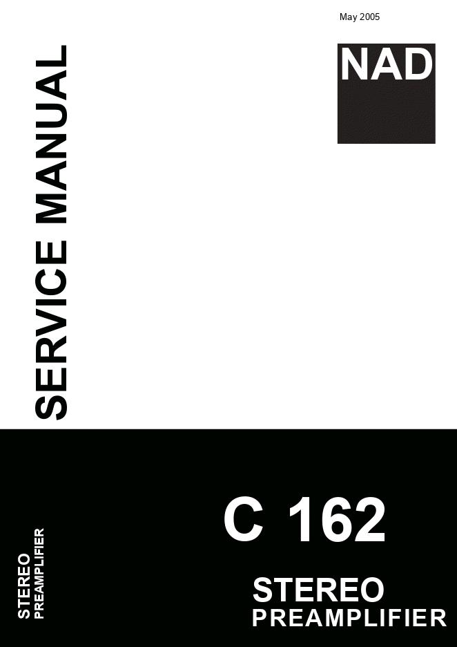 NAD C162前置放大器维修手册C162