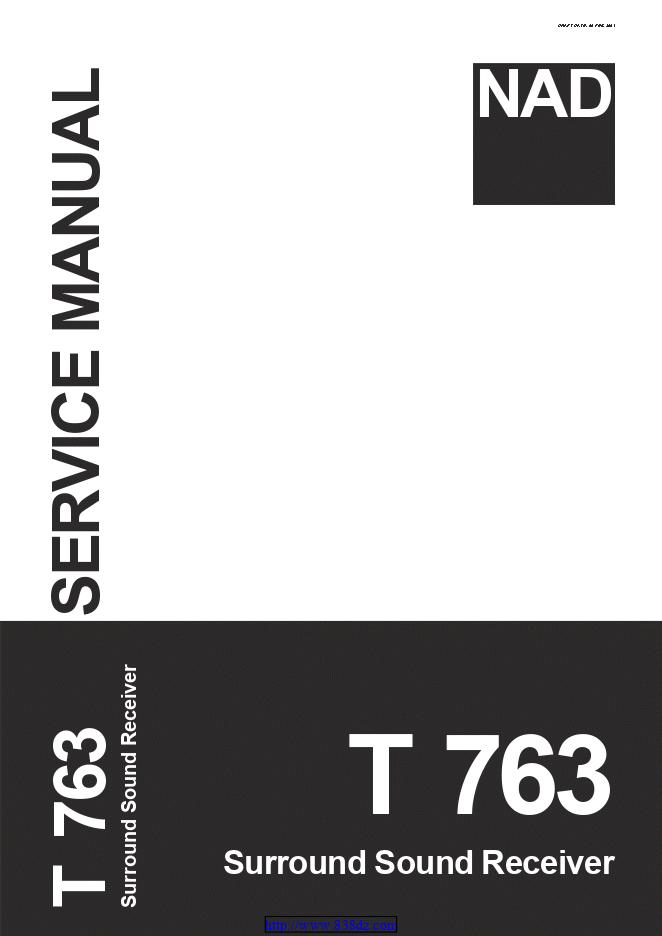 NAD T763功放电路图