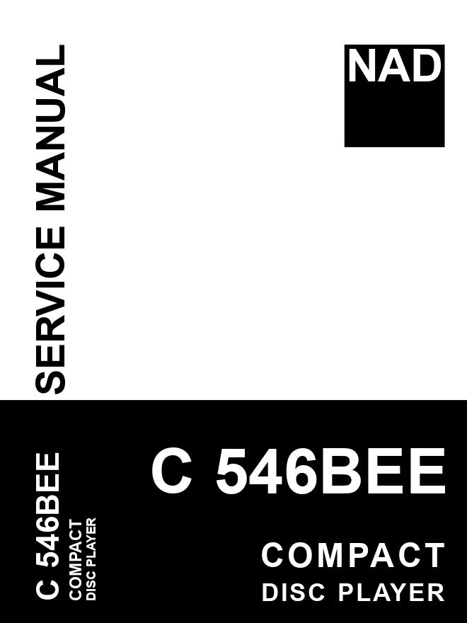 NAD C546BEE CD播放机维修手册