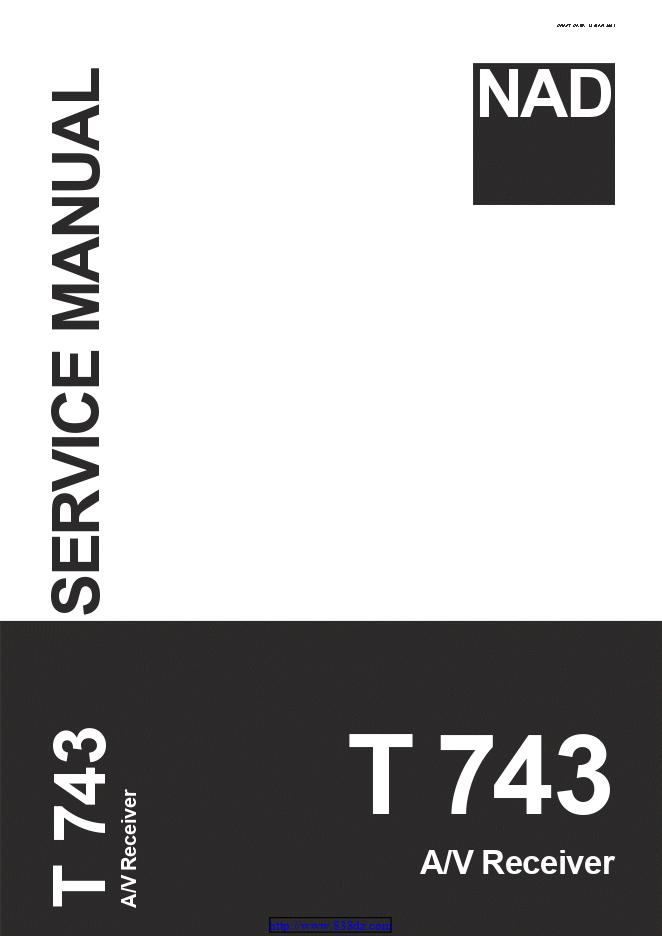 NAD T743 5.1声道环绕声功放电路图