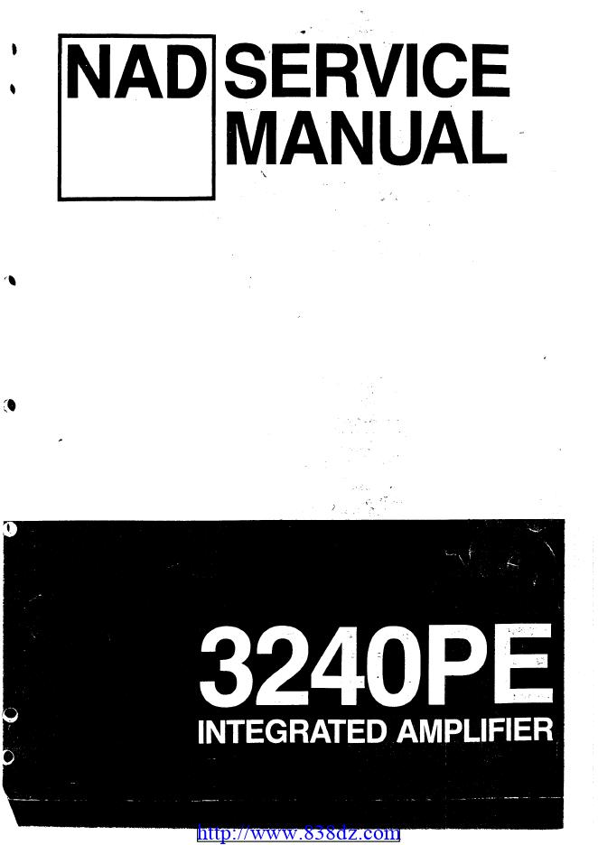 NAD 3240PE功放维修电路图