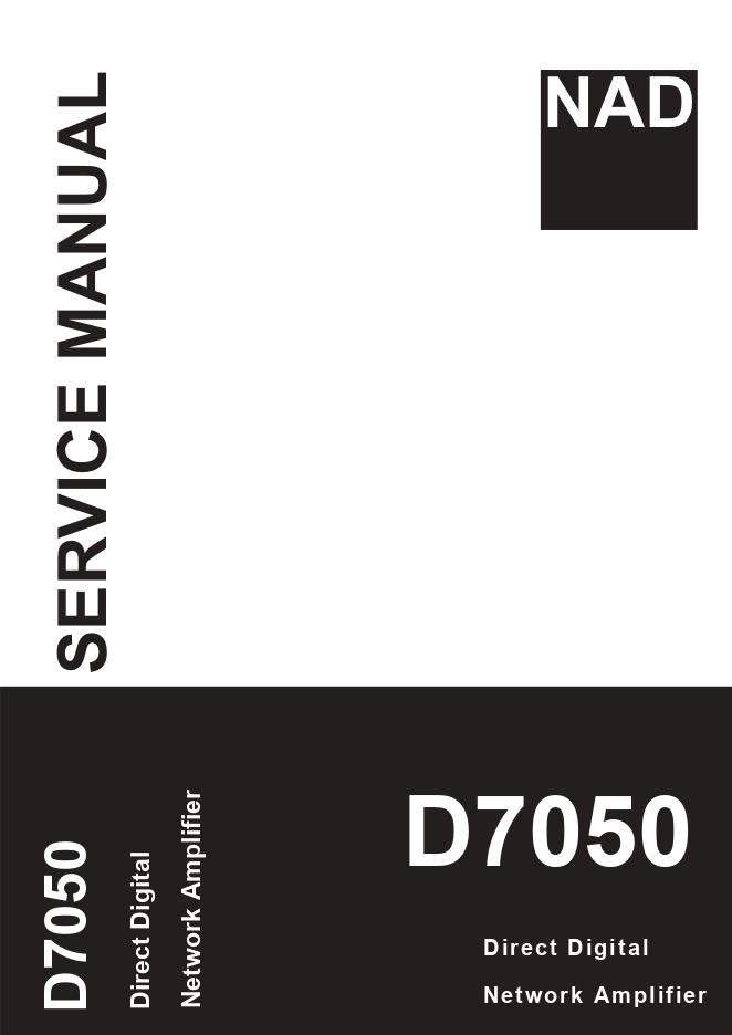NAD D7050功放维修手册