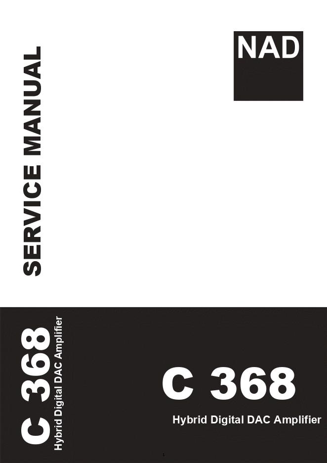 NAD C 368功放 电源部分电路图维修手册