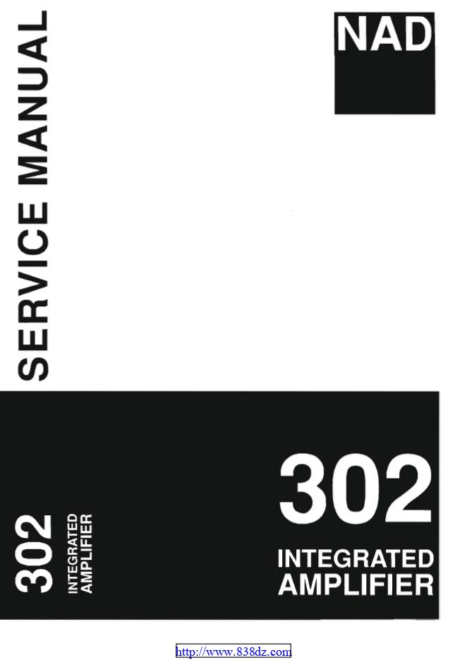 NAD 302功放维修手册