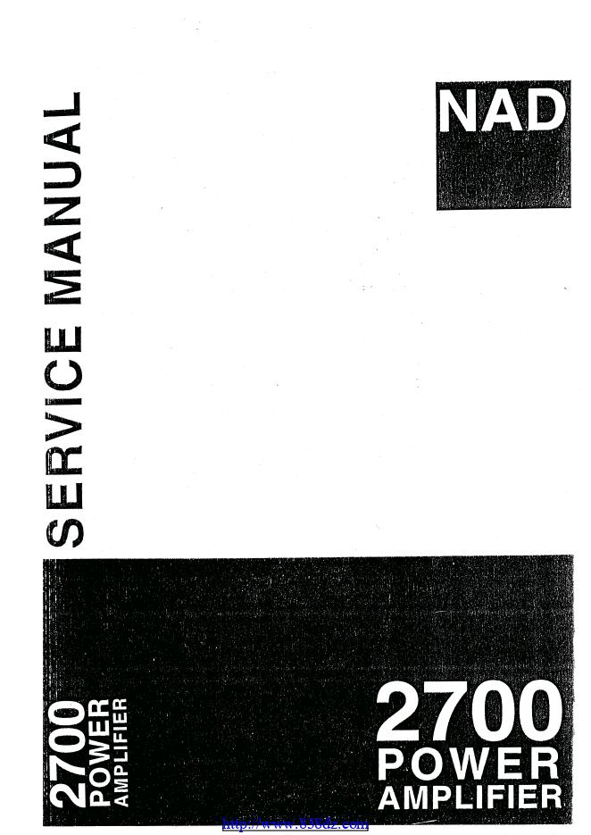 NAD 2700功放维修手册
