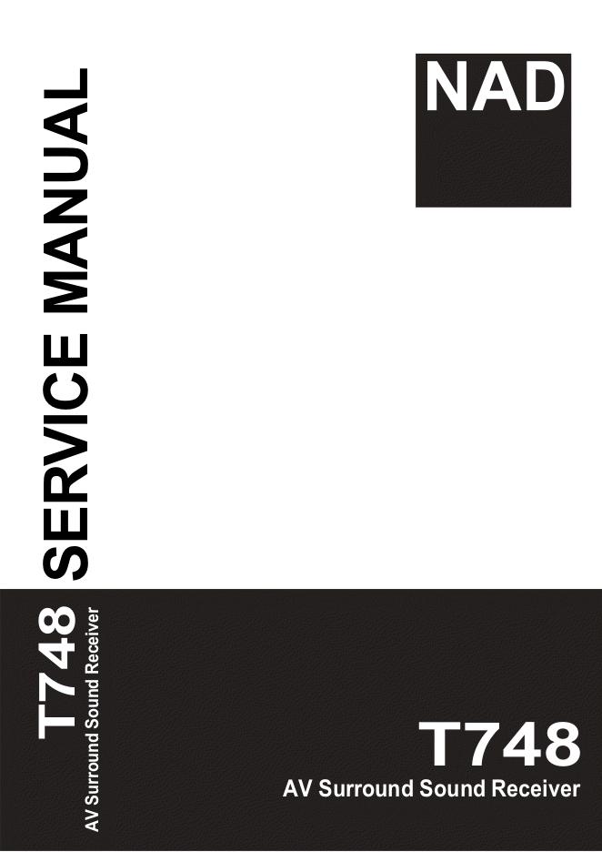 NAD T748 AV环绕声接收机功放维修手册
