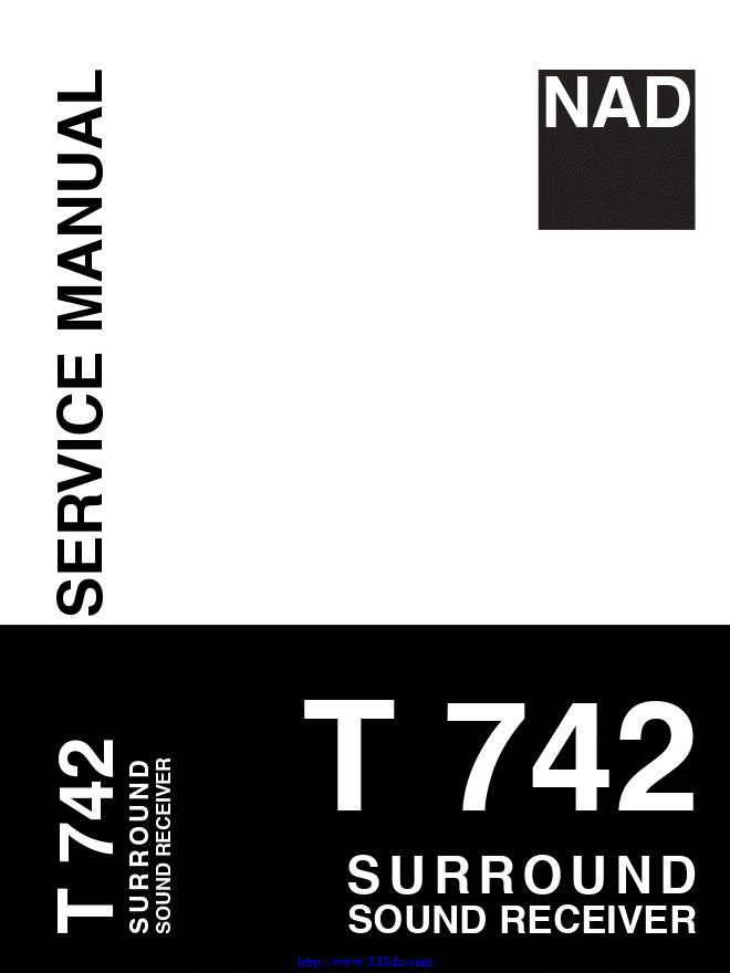NAD T742环绕声接收器电路图