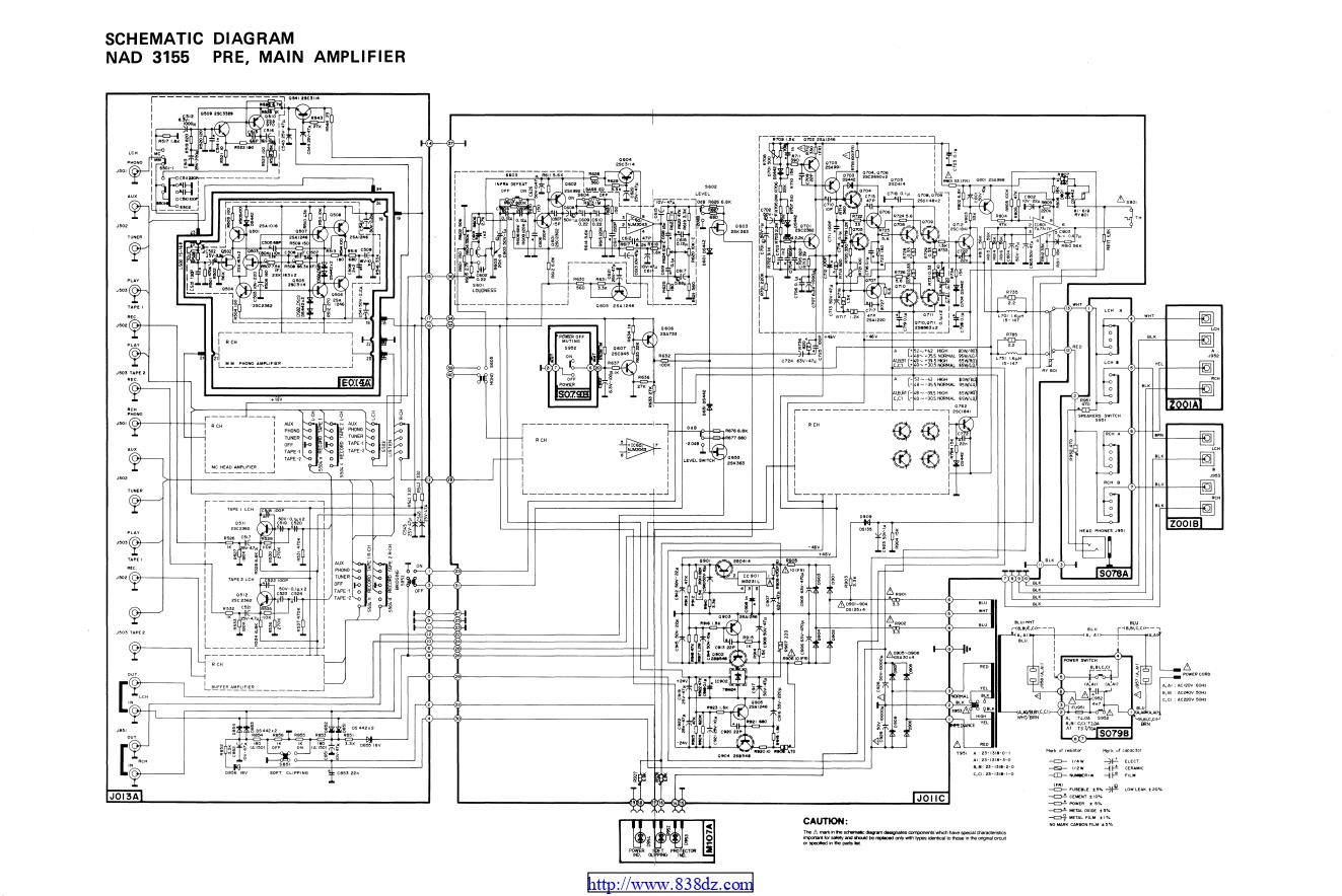 NAD 3155 功放维修电路图
