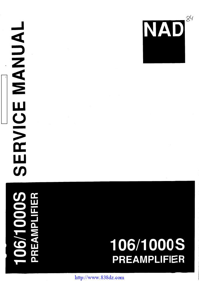 NAD 106 1000S功放前级维修手册