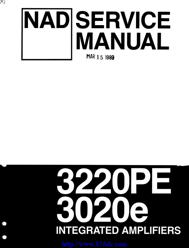 NAD 3020E功放维修电路图