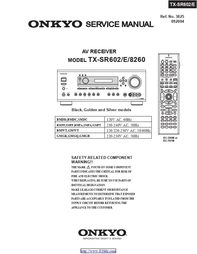 安桥Onkyo TX-SR602 AV功放电路图