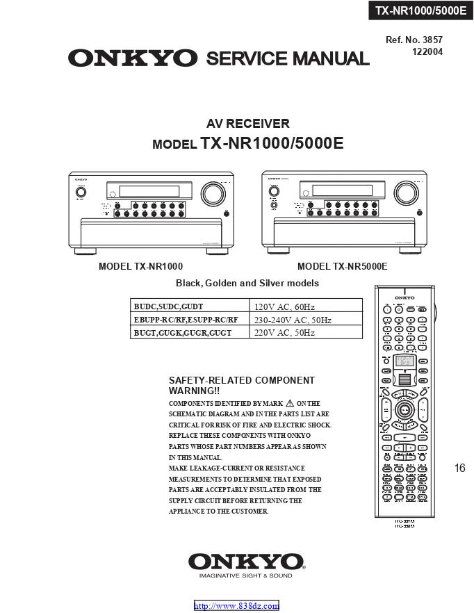 安桥Onkyo TX-NR5000E AV功放电路图