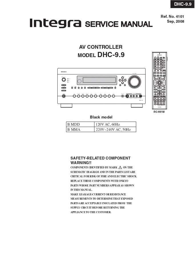 INTEGRA DHC-9.9 AV前置放大器维修手册